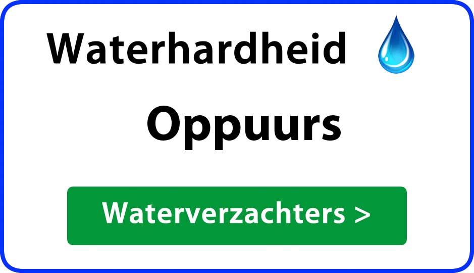 waterhardheid oppuurs waterverzachter