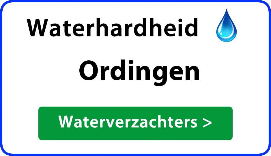 waterhardheid ordingen waterverzachter