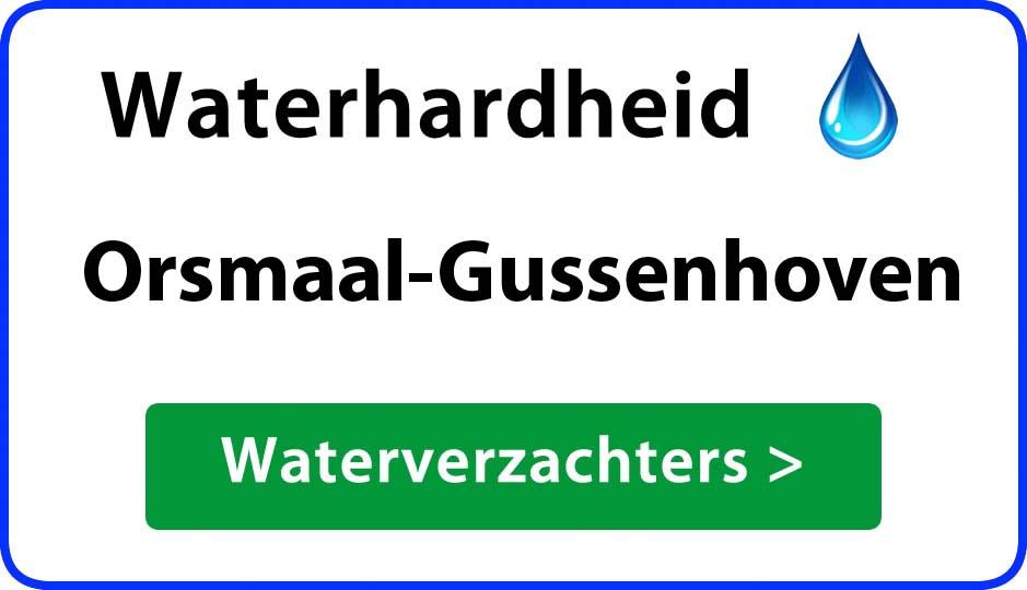 waterhardheid orsmaal-gussenhoven waterverzachter