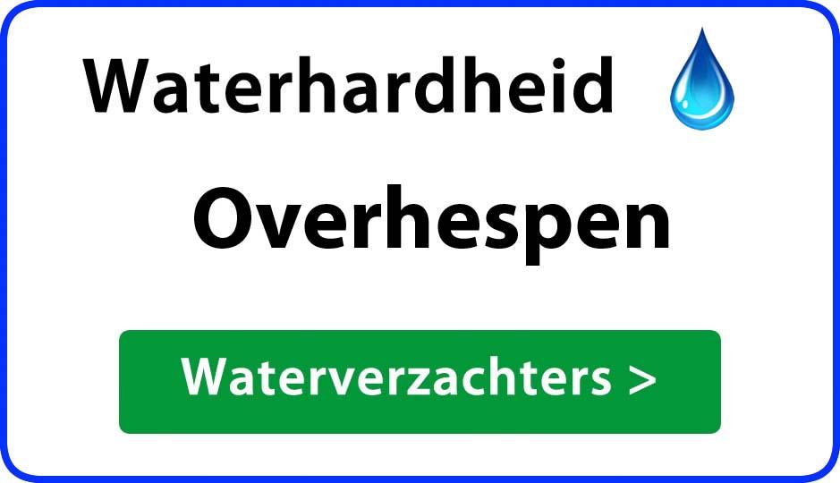 waterhardheid overhespen waterverzachter