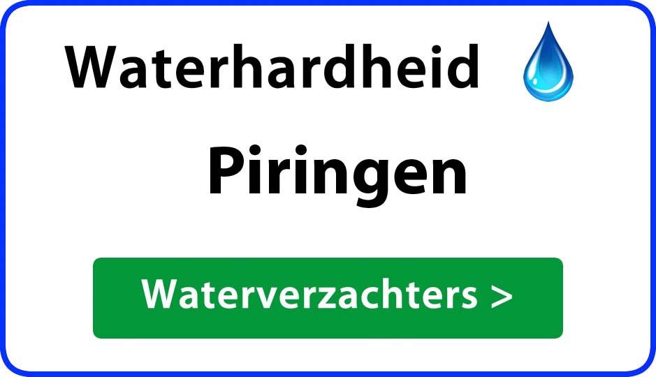 waterhardheid piringen waterverzachter