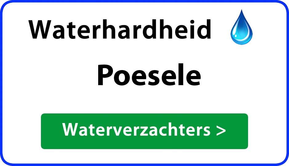 waterhardheid poesele waterverzachter