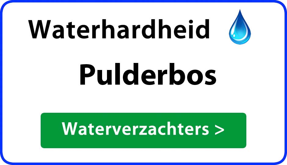waterhardheid pulderbos waterverzachter