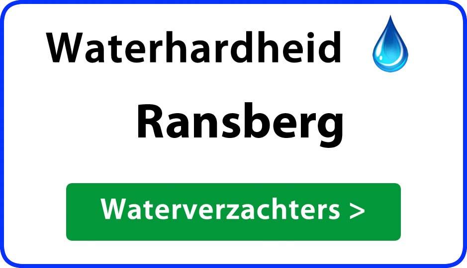 waterhardheid ransberg waterverzachter