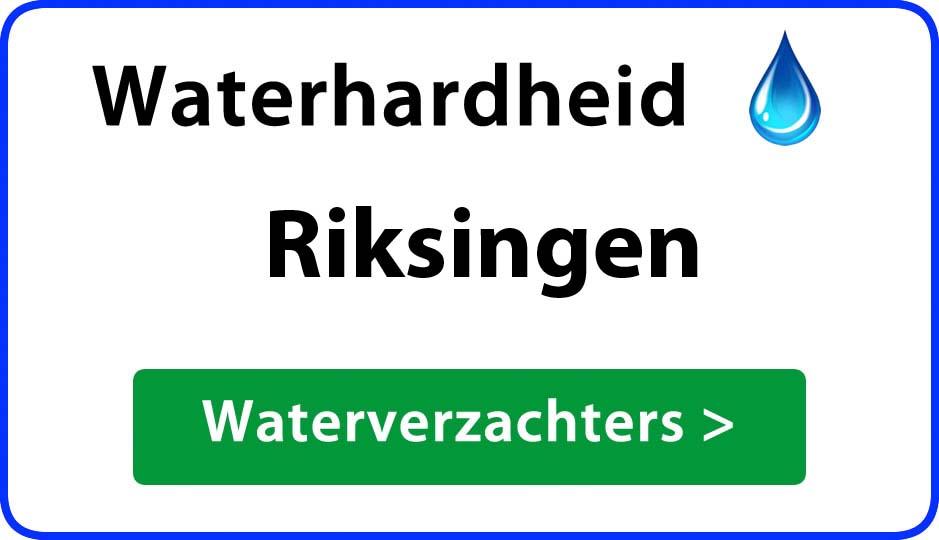 waterhardheid riksingen waterverzachter