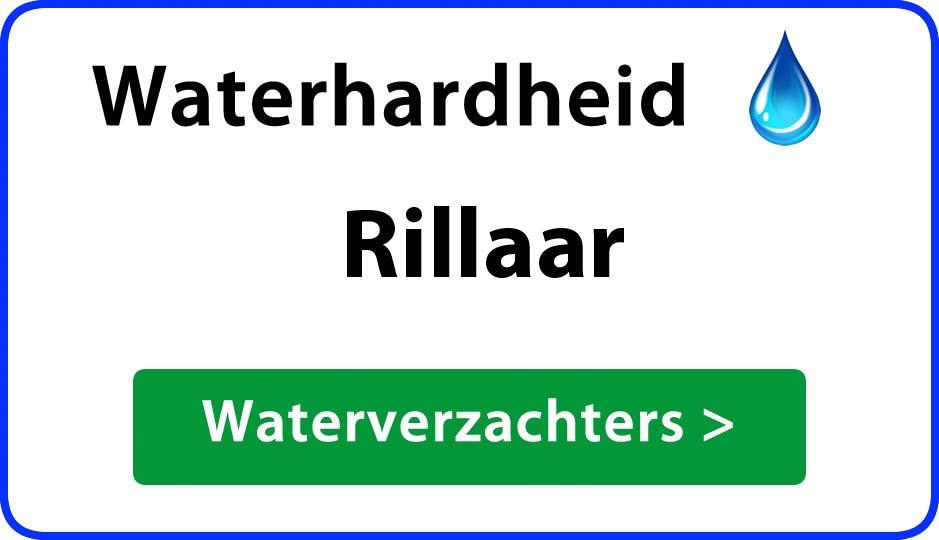 waterhardheid rillaar waterverzachter