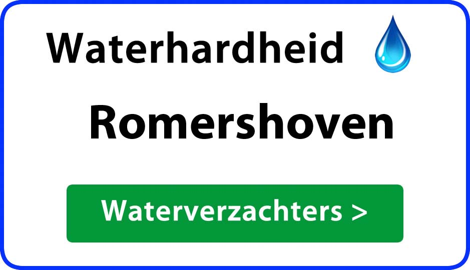 waterhardheid romershoven waterverzachter