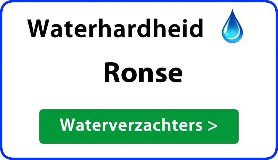 waterhardheid ronse waterverzachter