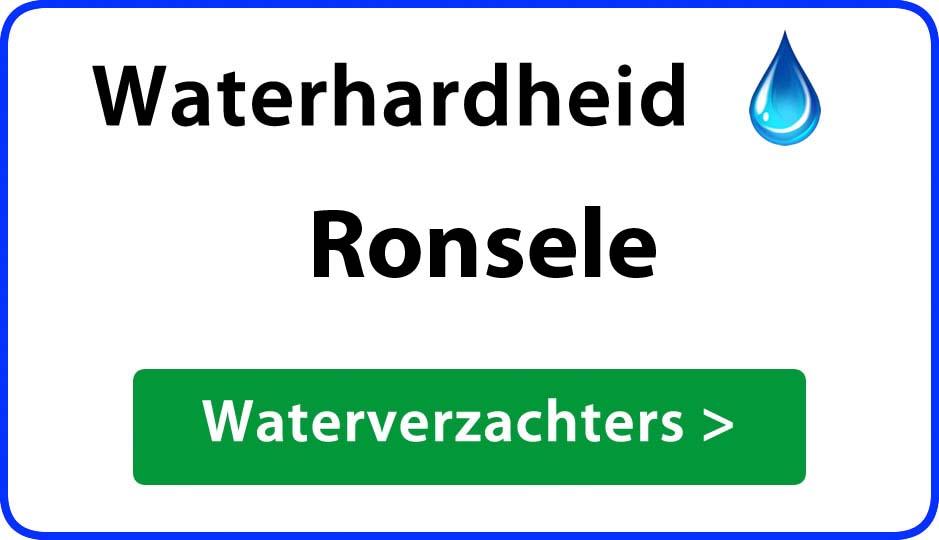 waterhardheid ronsele waterverzachter