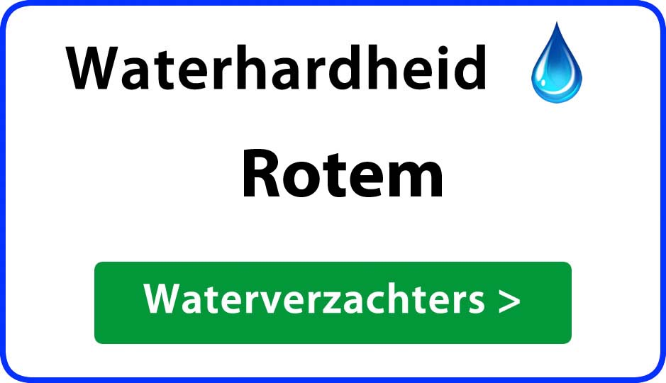 waterhardheid rotem waterverzachter