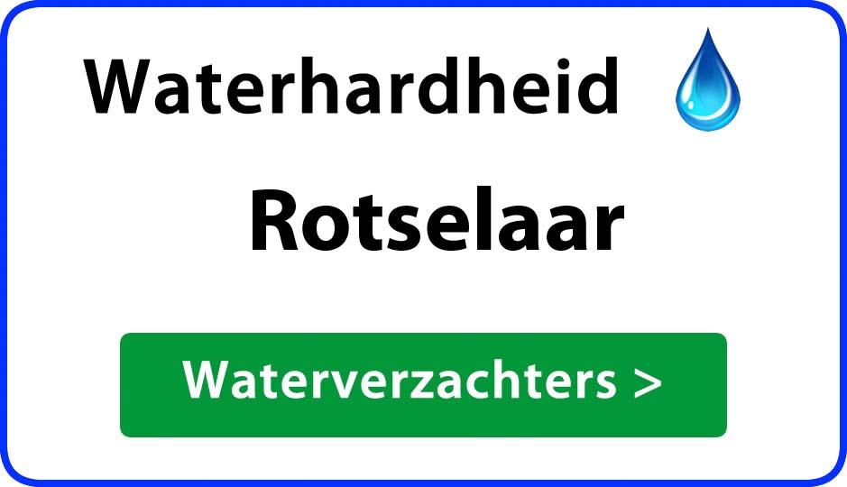 waterhardheid rotselaar waterverzachter