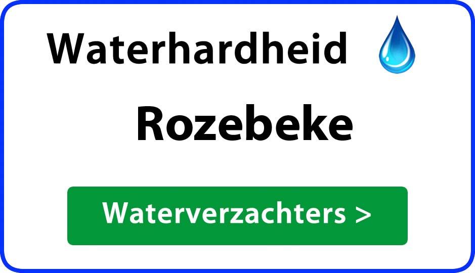 waterhardheid rozebeke waterverzachter