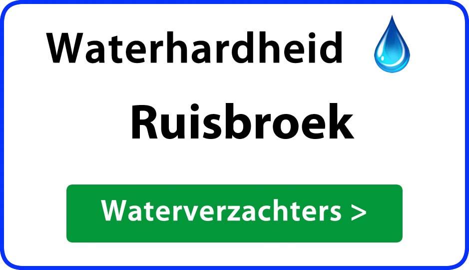 waterhardheid ruisbroek waterverzachter