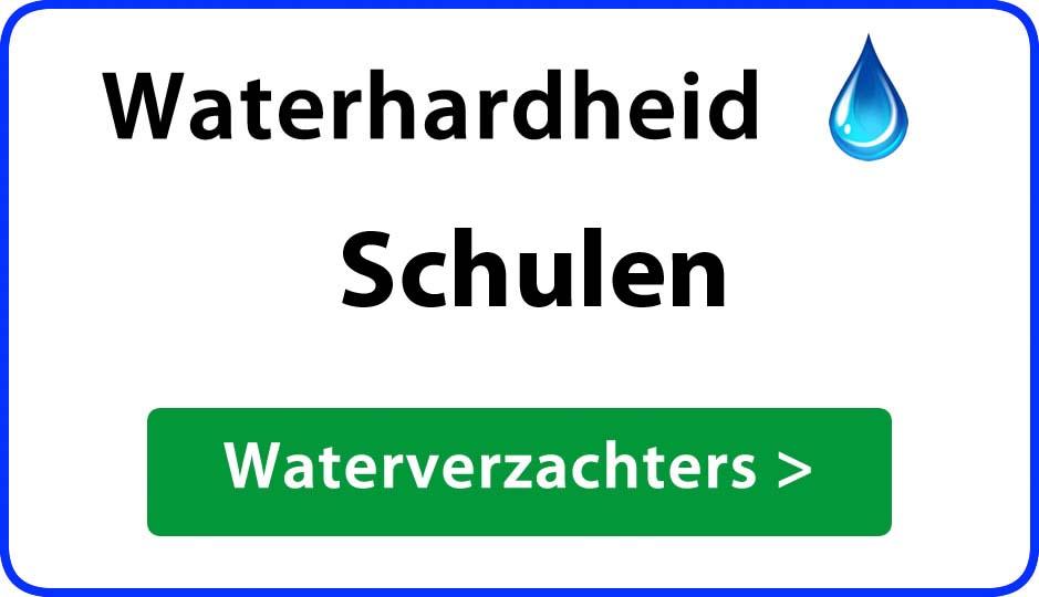 waterhardheid schulen waterverzachter