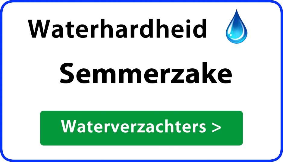 waterhardheid semmerzake waterverzachter