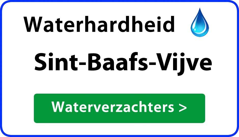 waterhardheid sint-baafs-vijve waterverzachter