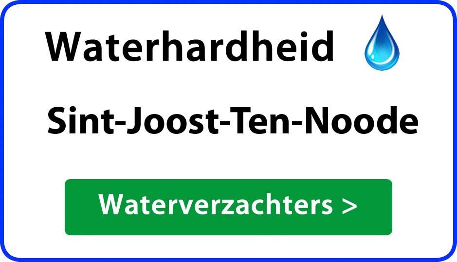 waterhardheid sint-joost-ten-noode waterverzachter