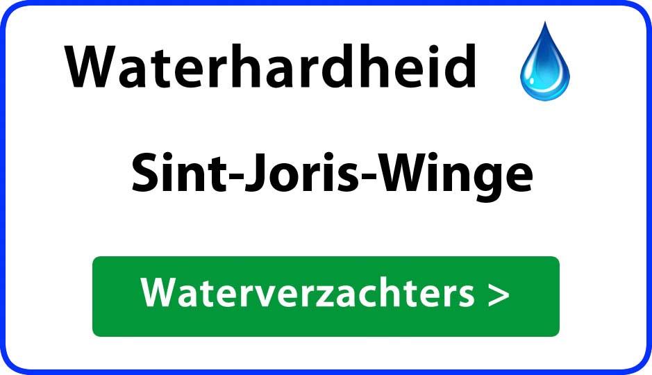 waterhardheid sint-joris-winge waterverzachter