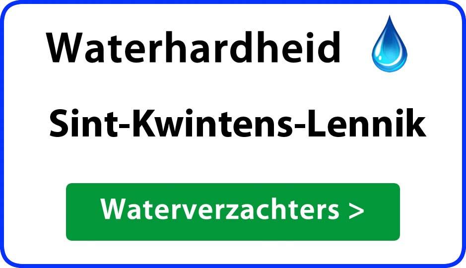 waterhardheid sint-kwintens-lennik waterverzachter