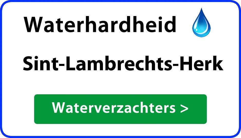 waterhardheid sint-lambrechts-herk waterverzachter