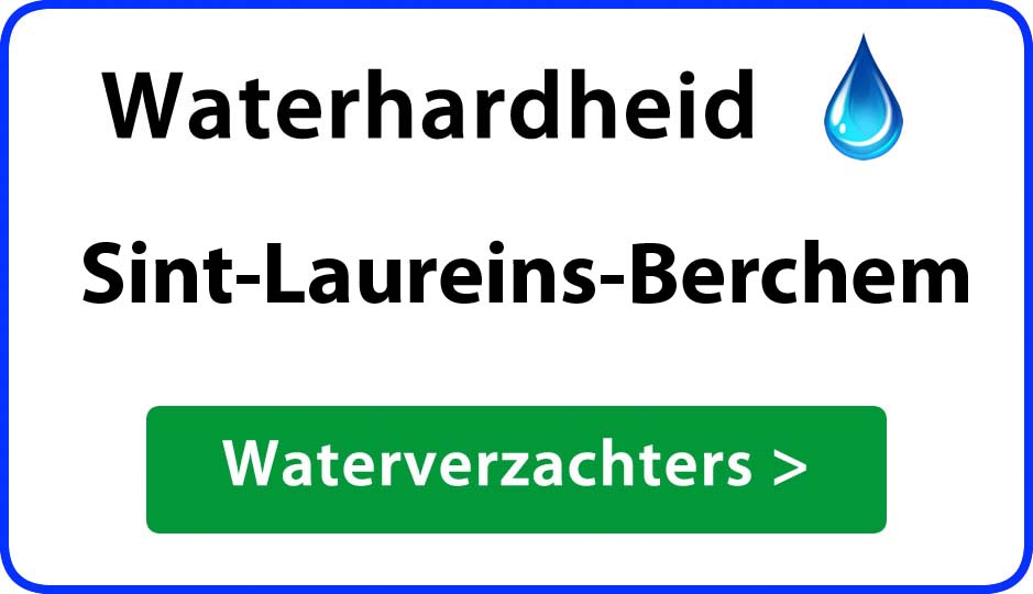waterhardheid sint-laureins-berchem waterverzachter