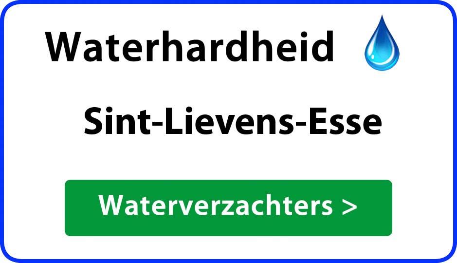 waterhardheid sint-lievens-esse waterverzachter