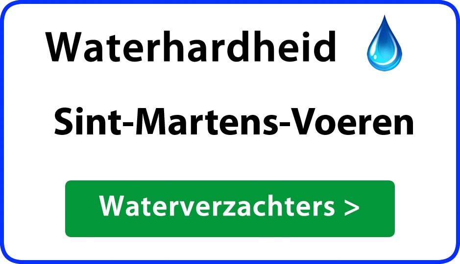 waterhardheid sint-martens-voeren waterverzachter