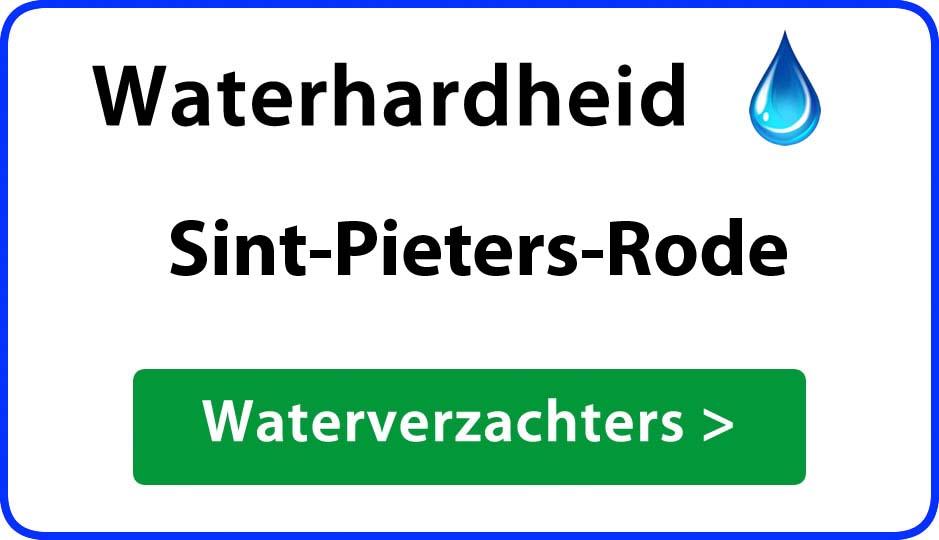 waterhardheid sint-pieters-rode waterverzachter