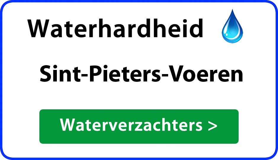 waterhardheid sint-pieters-voeren waterverzachter