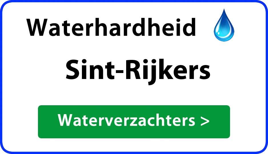 waterhardheid sint-rijkers waterverzachter