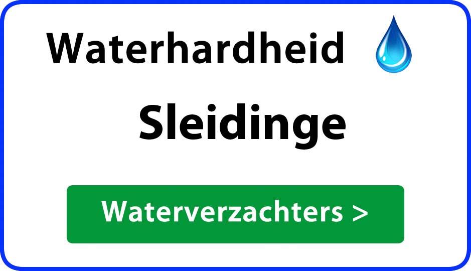 waterhardheid sleidinge waterverzachter