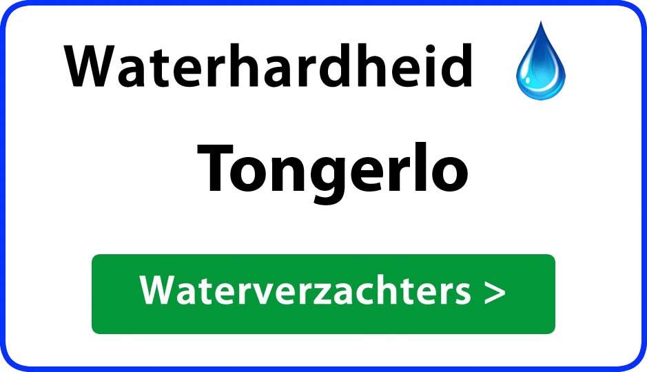 waterhardheid tongerlo waterverzachter