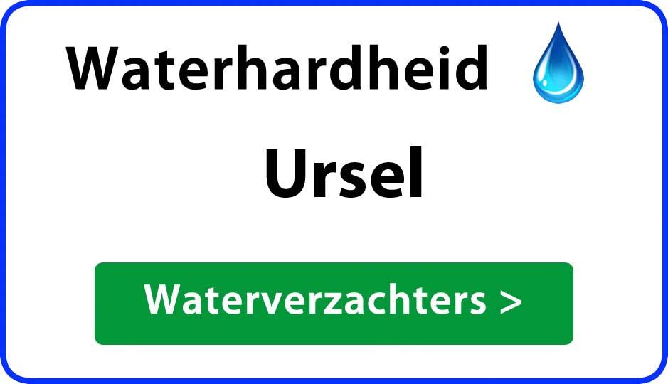 waterhardheid ursel waterverzachter