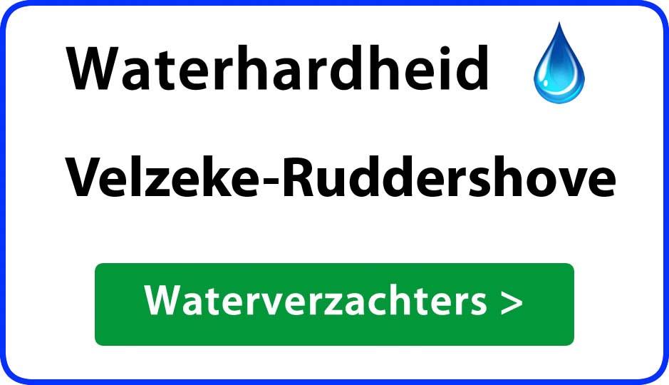 waterhardheid velzeke-ruddershove waterverzachter