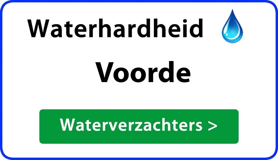 waterhardheid voorde waterverzachter