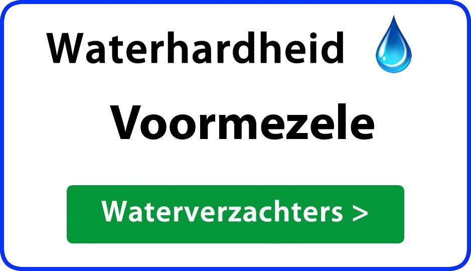 waterhardheid voormezele waterverzachter
