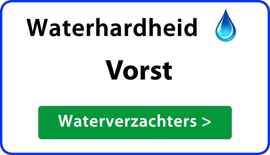 waterhardheid vorst waterverzachter