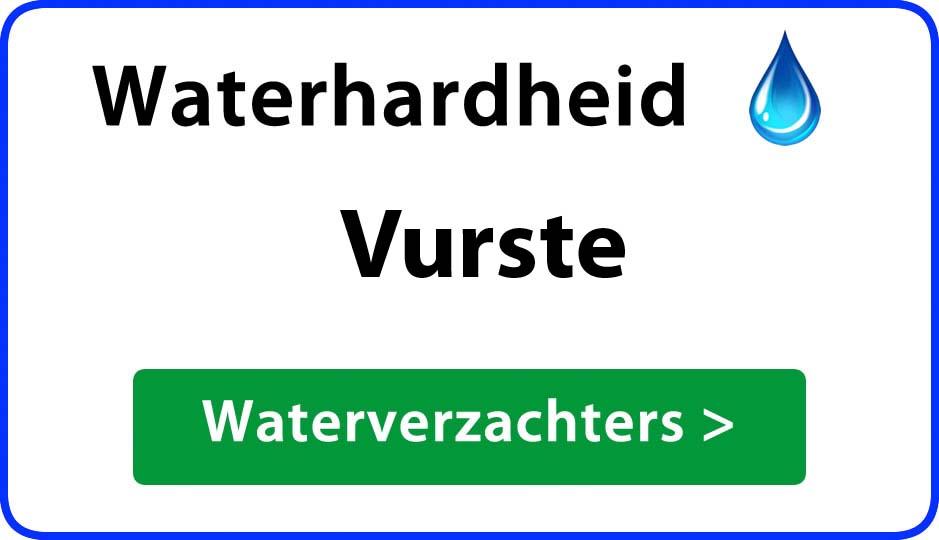 waterhardheid vurste waterverzachter