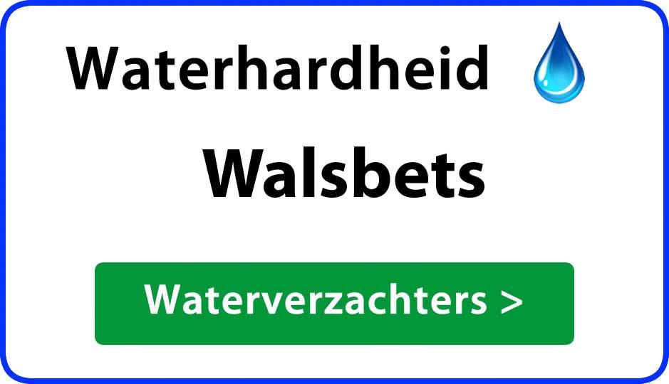 waterhardheid walsbets waterverzachter