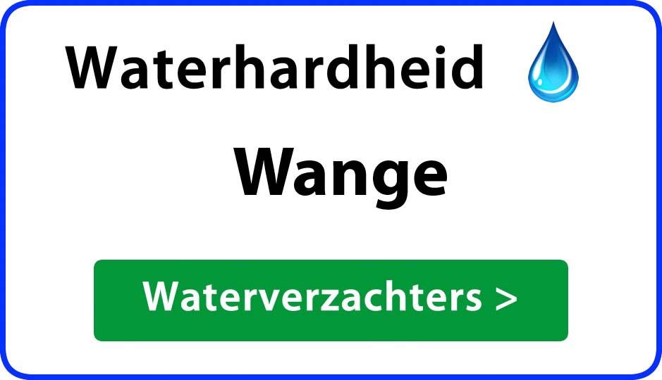 waterhardheid wange waterverzachter