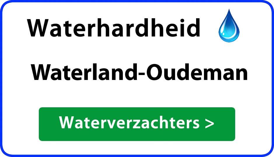 waterhardheid waterland-oudeman waterverzachter