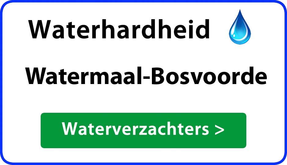 waterhardheid watermaal-bosvoorde waterverzachter