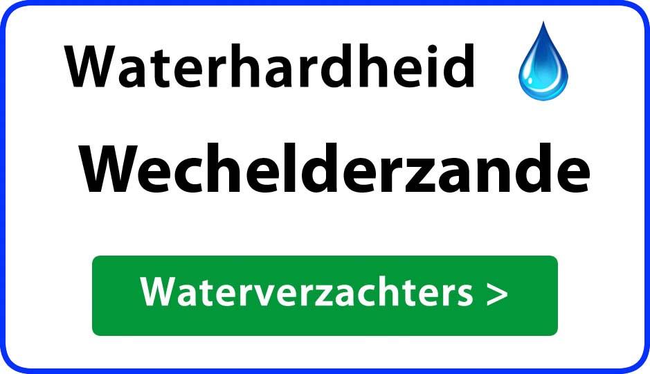 waterhardheid wechelderzande waterverzachter