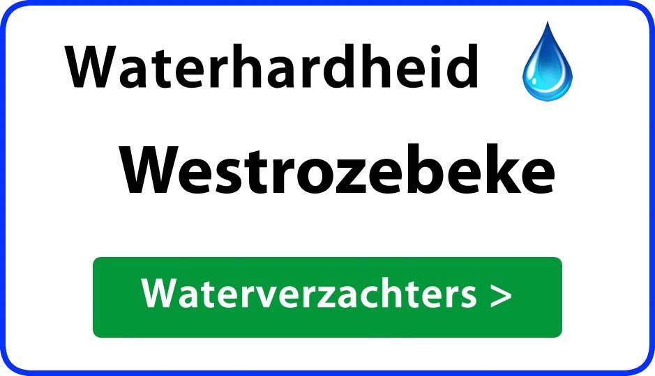 waterhardheid westrozebeke waterverzachter