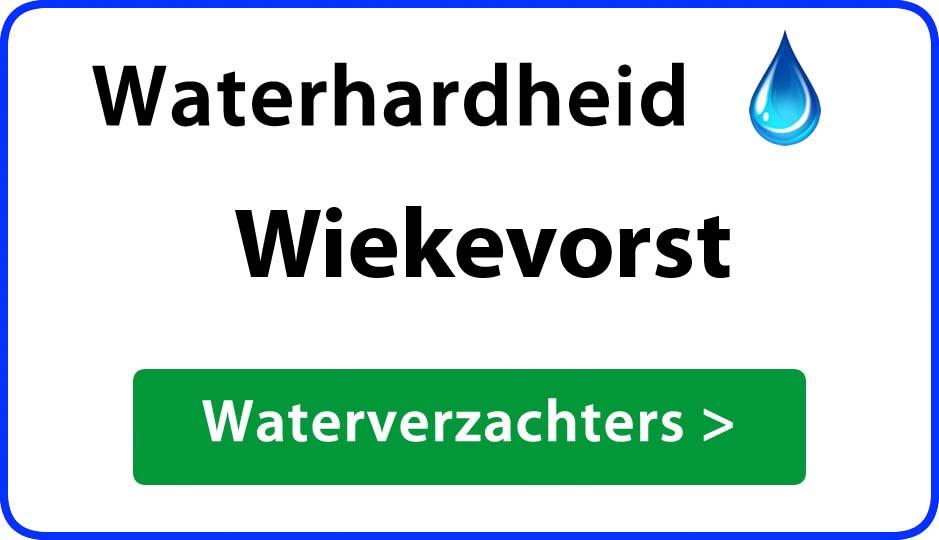waterhardheid wiekevorst waterverzachter