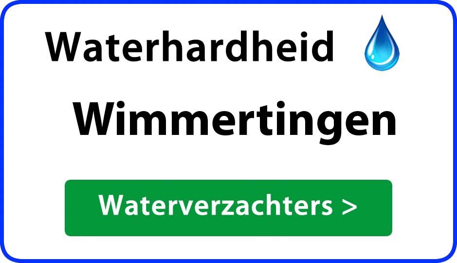 waterhardheid wimmertingen waterverzachter