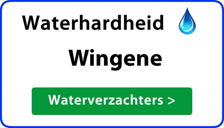 waterhardheid wingene waterverzachter