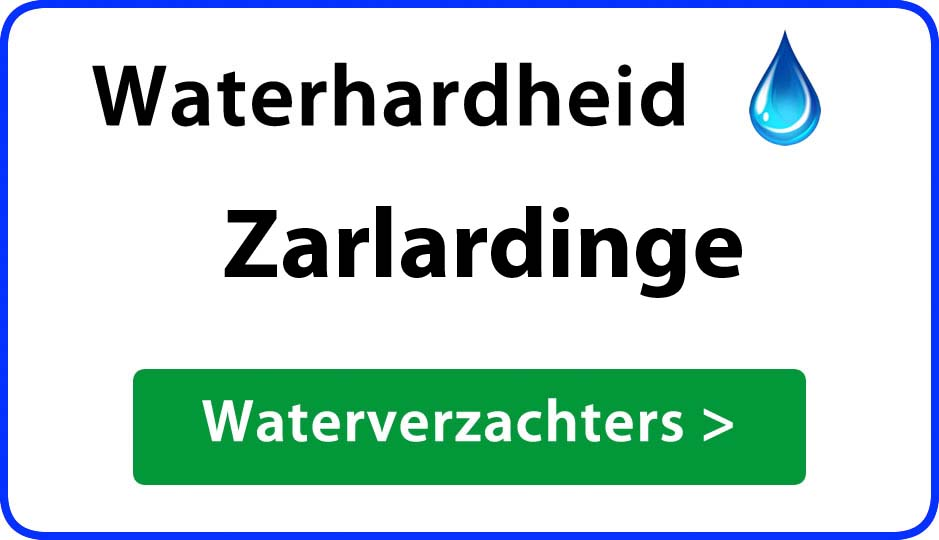 waterhardheid zarlardinge waterverzachter
