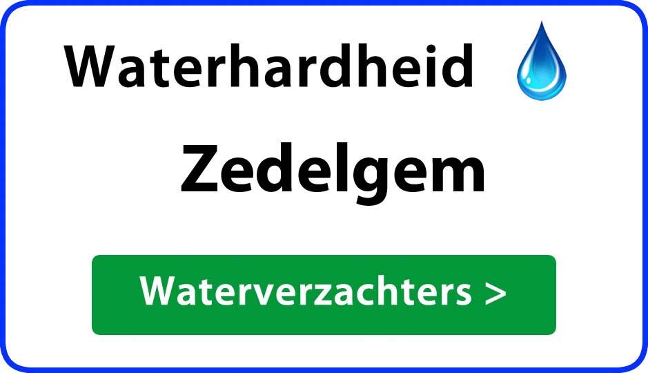 waterhardheid zedelgem waterverzachter
