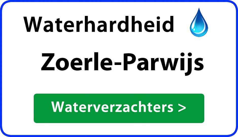 waterhardheid zoerle-parwijs waterverzachter